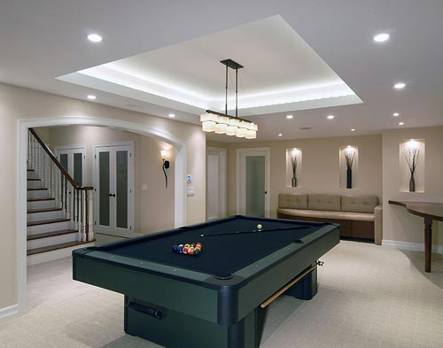 Lighting installation for your pool table prolux electrical pool table lights modern aloadofball Choice Image