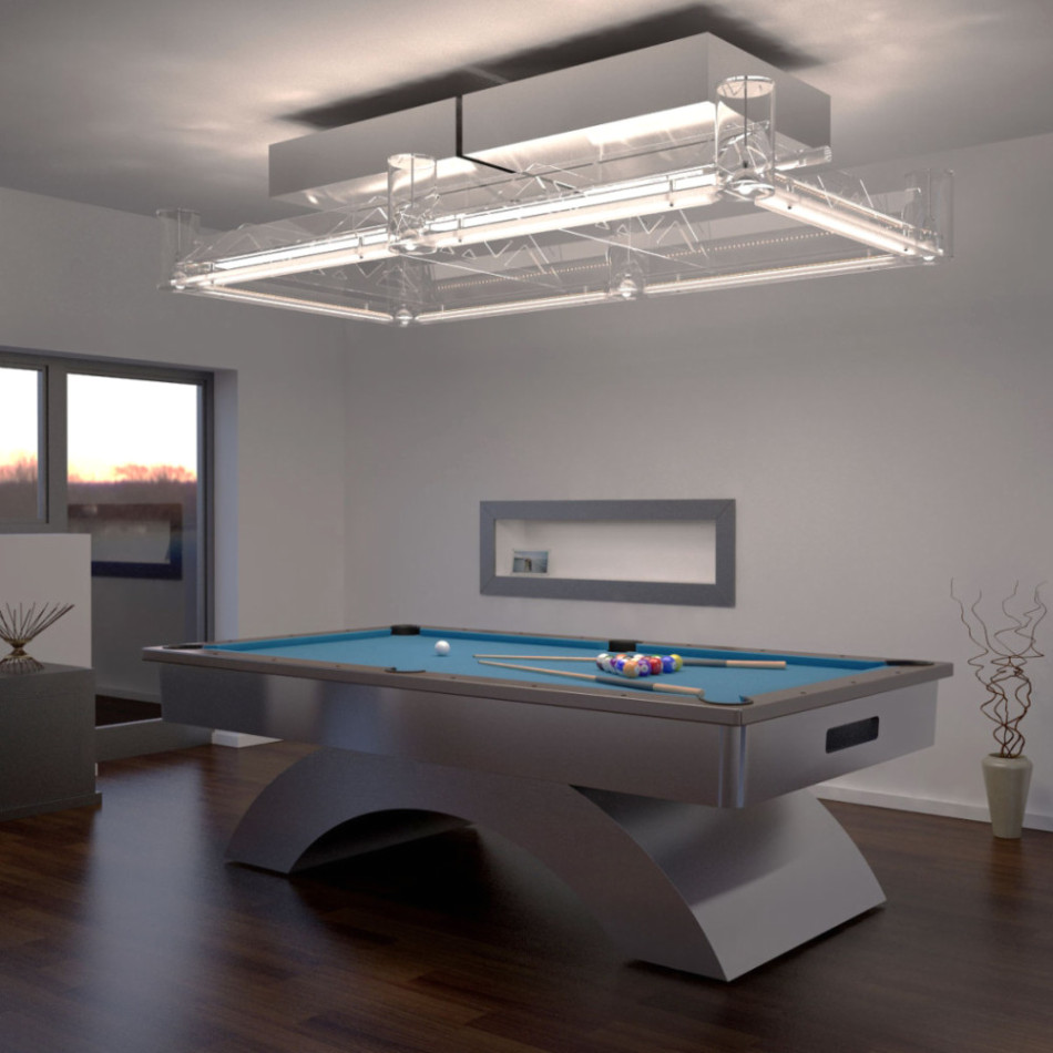 lighting installation for your pool table prolux. Black Bedroom Furniture Sets. Home Design Ideas
