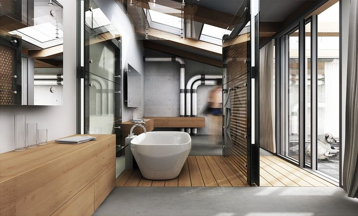 Industrial Lighting for Bathrooms