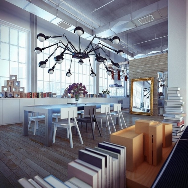 Industrial Home Design Spectacular Modern Industrial Home Designs That Stand Out From The: Industrial Lighting Installation For The Modern Apartment