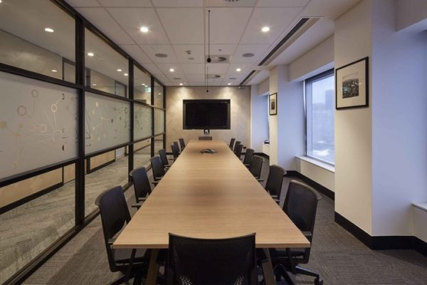 Dexus_Place_Melbourne_Office_Fit-out_Electrical_Prolux_Boardroom_AV_Lighting